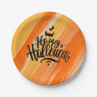 Plato De Papel Placas de papel elegantes del feliz Halloween el |