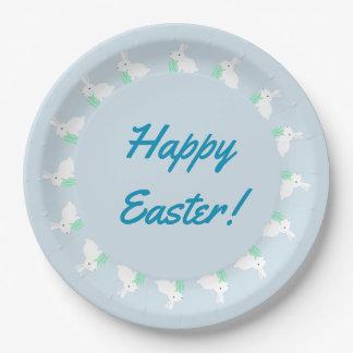 Plato De Papel Placas de papel felices del conejo de conejito de