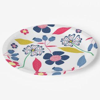 Plato De Papel Placas de papel florales
