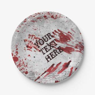 Plato De Papel Placas de papel personalizadas de la sangre del