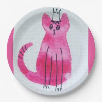 Plato De Papel Placas de papel rosadas de princesa Kitty