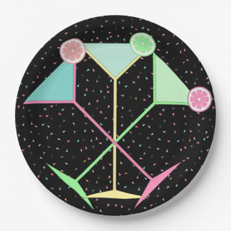 Plato De Papel Placas del confeti, placas de Martini, placas de