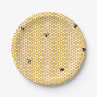 Plato De Papel Placas del fiesta de la abeja