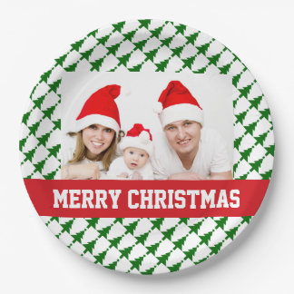 Plato De Papel Placas del fiesta de la foto del navidad de la