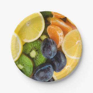 Plato De Papel Placas del fiesta de la fruta fresca