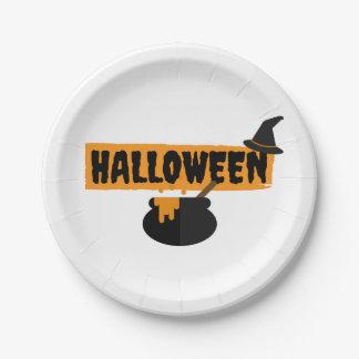 Plato De Papel Placas del fiesta del papel de Halloween