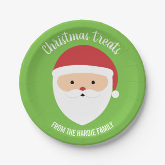 Plato De Papel Placas del navidad con Santa