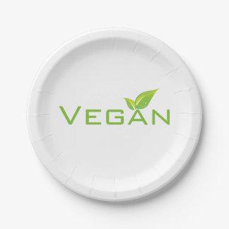 Plato De Papel Placas del vegano