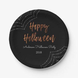 Plato De Papel Placas modernas de Halloween del fiesta del feliz