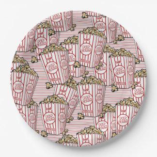 Plato De Papel Porciones de palomitas