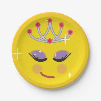 Plato De Papel Princesa brillante Emoji