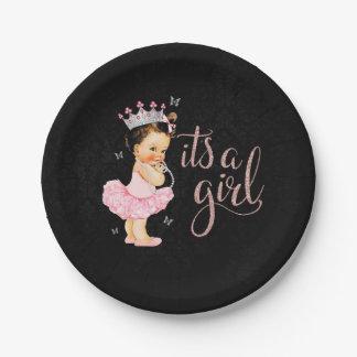Plato De Papel Princesa It es placas de una fiesta de bienvenida