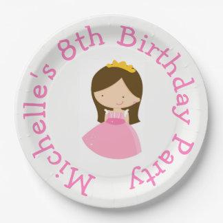 Plato De Papel Princesa y fiesta de cumpleaños lindas triguenas