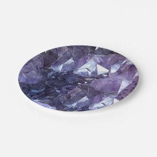 Plato De Papel Racimo cristalino Amethyst