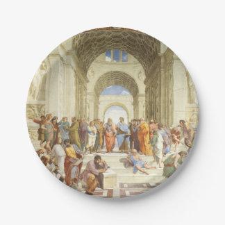 Plato De Papel Raphael - La escuela de Atenas 1511