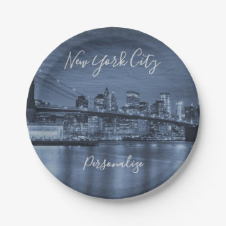 Plato De Papel Rascacielos de New York City