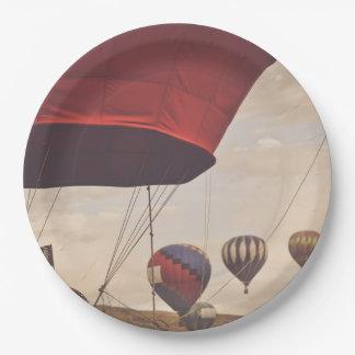 Plato De Papel Raza del globo del aire caliente de Reno