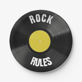Plato De Papel Reglas de la roca