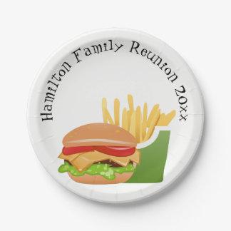 Plato De Papel Reunión de familia personalizada