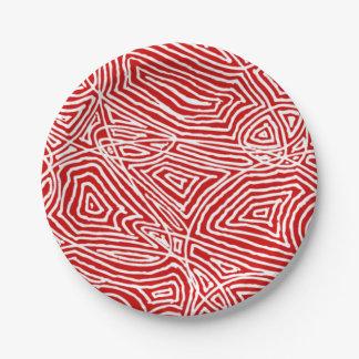 Plato De Papel Rojo de Scribbleprints