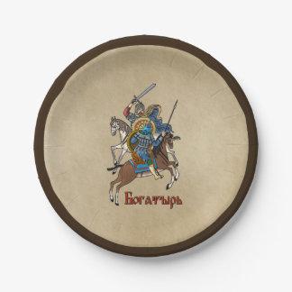 Plato De Papel Ruso medieval Bogatyr