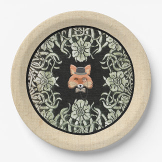 Plato De Papel Smart como placa de papel del Fox en arpillera