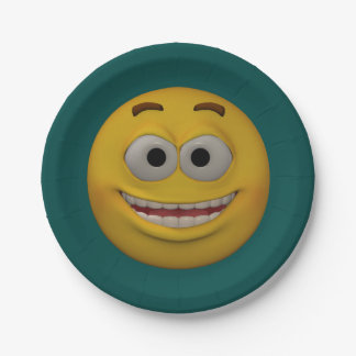 Plato De Papel smiley 2 del estilo 3D