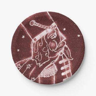 Plato De Papel Soldado de juguete en rojo del arándano