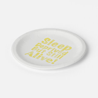 Plato De Papel Sueño privado pero aún vivo en amarillo