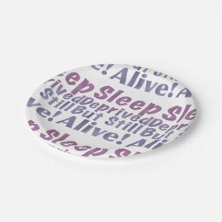 Plato De Papel Sueño privado pero aún vivo en púrpuras