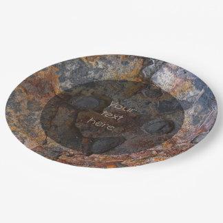 Plato De Papel Superficie de la roca de Sedementary de la