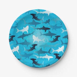 Plato De Papel ¡tiburones!