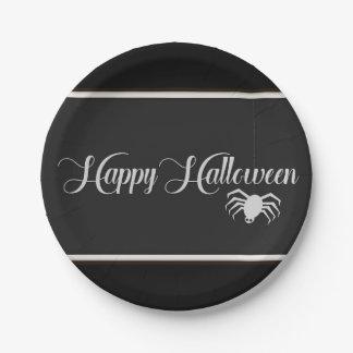Plato De Papel Tipografía del feliz Halloween
