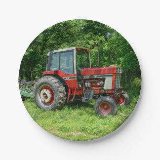 Plato De Papel Tractor internacional viejo