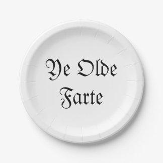Plato De Papel YE Olde Farte