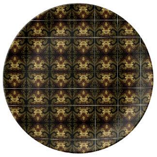 "Plato De Porcelana 10,75"" placa decorativa de la porcelana"