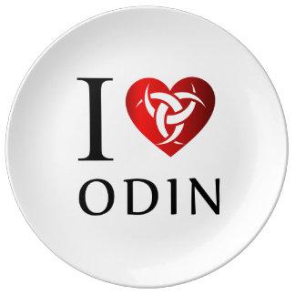Plato De Porcelana Amo Odin