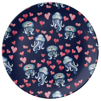 Plato De Porcelana Amor de las medusas