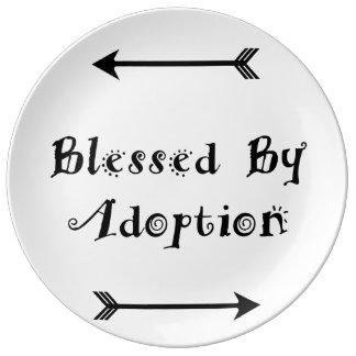 Plato De Porcelana Bendecido por la adopción - acogida
