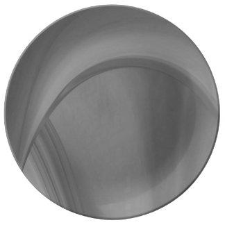 Plato De Porcelana Carbón de leña sutil