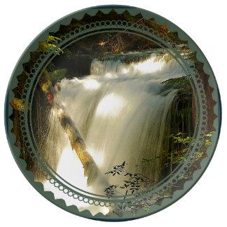 Plato De Porcelana Cascada grande de la cala de la primavera