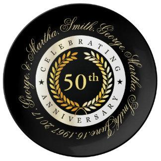 Plato De Porcelana Celebración del 50.o aniversario