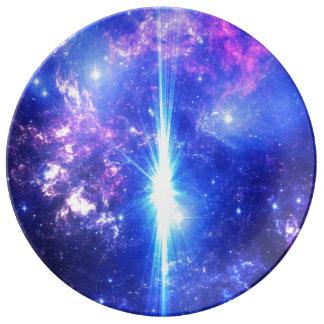 Plato De Porcelana Cielos iridiscentes
