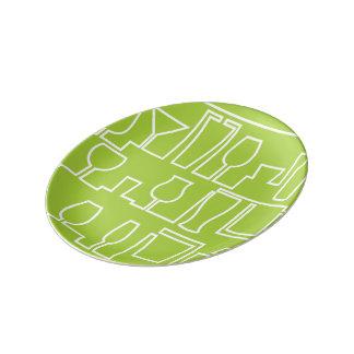 Plato De Porcelana Cóctel de la verde lima