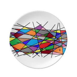 Plato De Porcelana color line