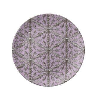 Plato De Porcelana Copo de nieve