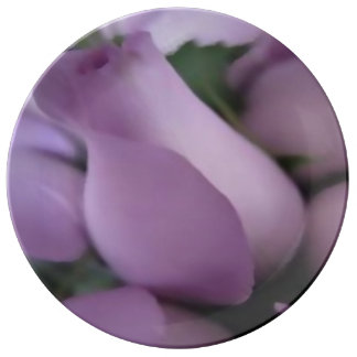 "Plato De Porcelana Decorativo, placa 10,75"" de la porcelana rosas"