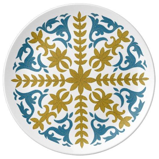 Plato De Porcelana Diseño chino 04 del Kazakh