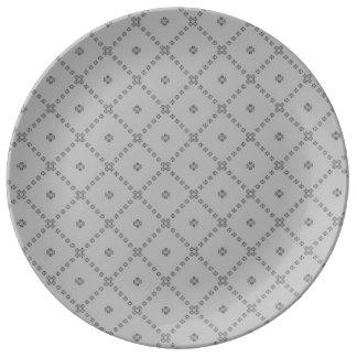 Plato De Porcelana Diseño gris gráfico