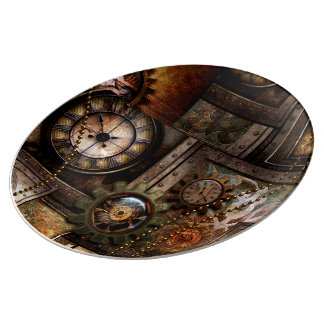 Plato De Porcelana Diseño maravilloso del steampunk